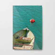 Boat and Blue Waters Metal Print