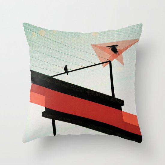 across the grey Throw Pillow