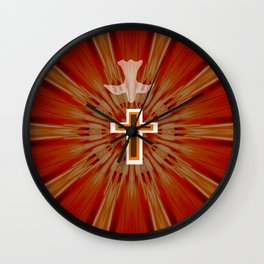 The Holy Spirit By Saribelle Rodriguez Wall Clock