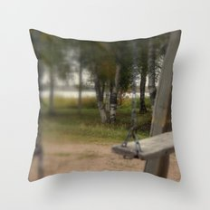 Lonely Swing Throw Pillow