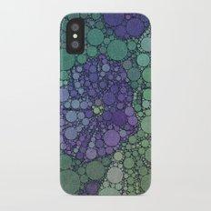 Percolated Purple Potato Flower iPhone X Slim Case