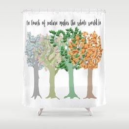 Four Season Trees Shower Curtain