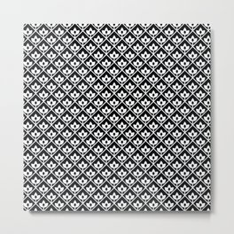 Diamond leaf pattern in black Metal Print