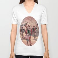 drum V-neck T-shirts featuring Drum by Sarah Larguier