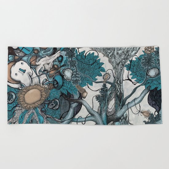 Abstract Jungle  Beach Towel