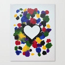 Willa Carnival Heart Canvas Print