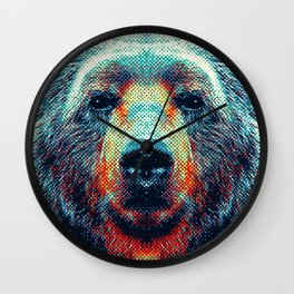 Bear - Colorful Animals Wall Clock