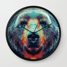 Bear - Colorful Animals Wall Clock