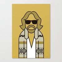 the dude Canvas Prints featuring Dude by Ale Giorgini