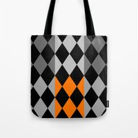 orange pattern Tote Bags featuring Pattern orange by LoRo  Art & Pictures