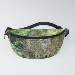 Watercolor Architecture Sugar Factory Ruins 01, Nature Reclaimed Fanny Pack