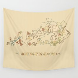 Kentucky State Lines Wall Tapestry