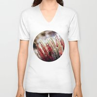 bokeh V-neck T-shirts featuring Bokeh Flowers by Pati Designs