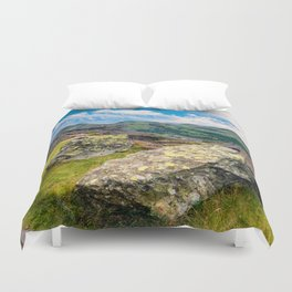 Quarry Steps Snowdonia Duvet Cover