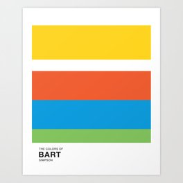 The Color of - BART Simpsons Art Print