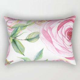 Roses Water Collage Rectangular Pillow