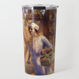 Classical African-American Masterpiece 'A Vendor' by Edwin Harleston Travel Mug
