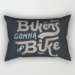 Bikes gonna bike Rectangular Pillow