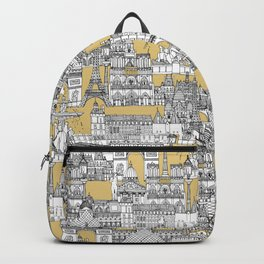 Paris toile gold Backpack