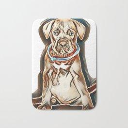 puppy cane corso on a white background        - Image Bath Mat