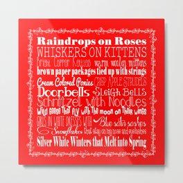 My Favorite Things - Red Metal Print