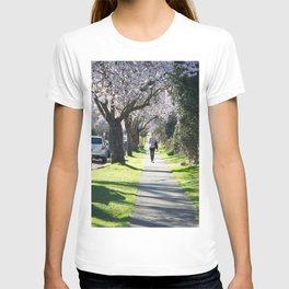 Cherry Blossom Sidewalk T-shirt