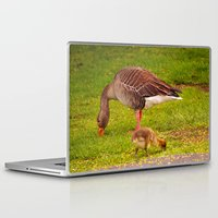 ryan gosling Laptop & iPad Skins featuring Mother Goose and Gosling by GardenGnomePhotography