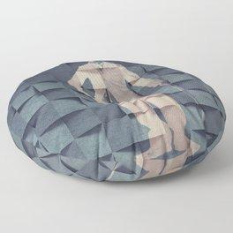 CHAPLIN'S BLUE PRINT #society6 Floor Pillow