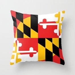 Maryland State Flag Art Print Throw Pillow