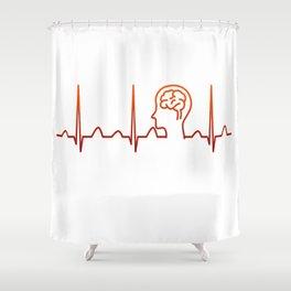 Neurologist Heartbeat Shower Curtain
