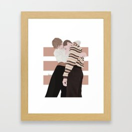 Henrik Holm and Tarjei Sandvik Moe | skam cast Framed Art Print
