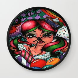 Sweet Sugar Shock Girl Wall Clock