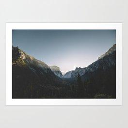 Yosemite Sunrise Art Print