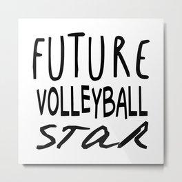 Future Volleyball Star Metal Print