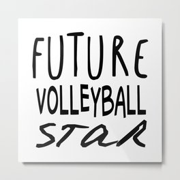 Future Volleyball Star Metal Print