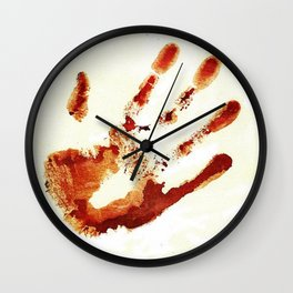 Castiel's handprint Wall Clock
