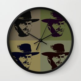 Clint Eastwood Pop Art Wall Clock