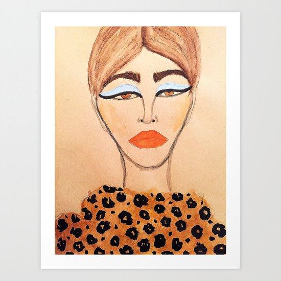Leopard Coat Art Print