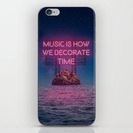 Music - Time iPhone Skin