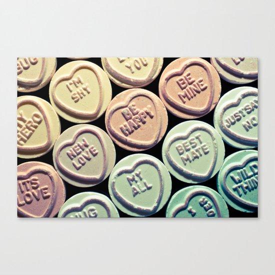 Lovehearts Canvas Print