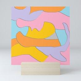 Scribble art - Abstract Art - Deep - Scribbles Mini Art Print