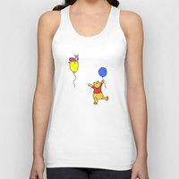pooh Tank Tops featuring pooh and piglet by BlackBlizzard