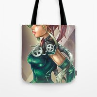 rogue Tote Bags featuring ROGUE by Tim Shumate