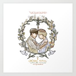 """White background illustration for video of song by Wilder Adkins, """"When I'm Married"""" Art Print"""