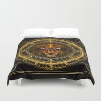 leo Duvet Covers featuring Leo by Skylark Art