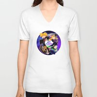 hey arnold V-neck T-shirts featuring Hey Arnold Halloween by Kitty Kichi