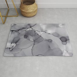 Alcohol Ink - Neutral Gray Rug