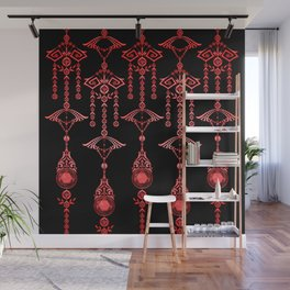 CASTELLINA JEWELS: ORNATE RED GOTH Wall Mural
