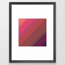 Sunset colors Framed Art Print