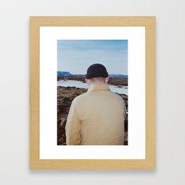 Man in knit hat Framed Art Print